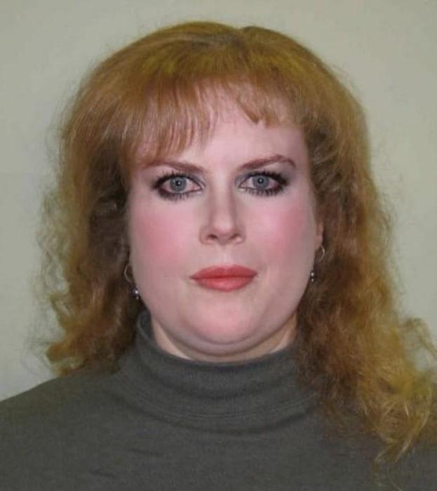Cómo lucirían los famosos si fueran personas normales - Nicole Kidman gordita y cabello maltratado