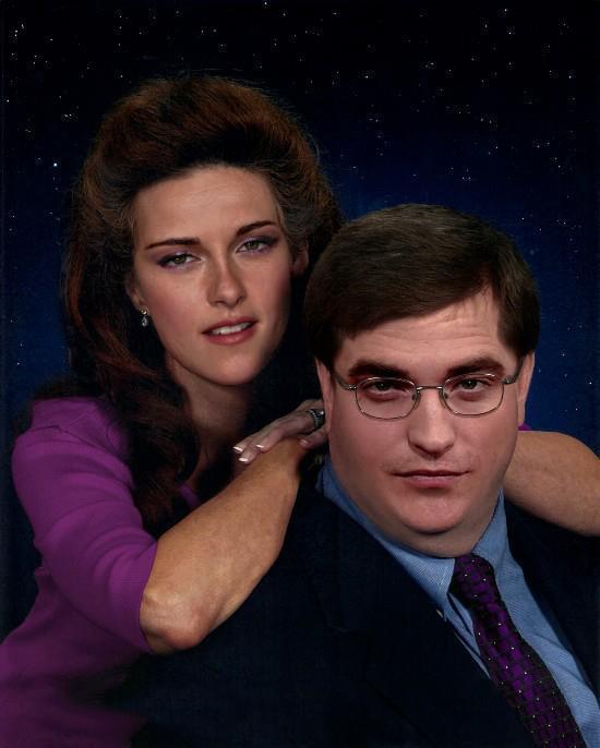 Cómo lucirían los famosos si fueran personas normales - Kristen y Pattinson foto de estudio