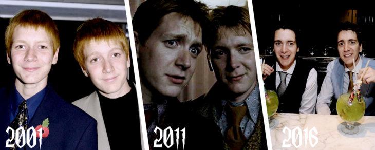 evolución de los gemelos de harry potter