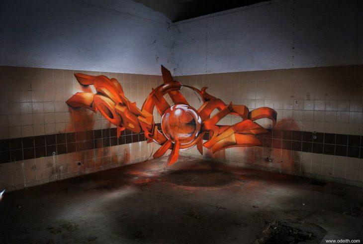 Graffiti callejero en 3D