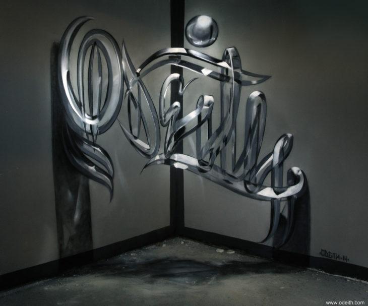 Impresionante graffiti 3D