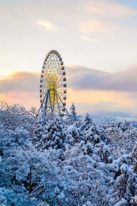 Rueda de la fortuna nevada
