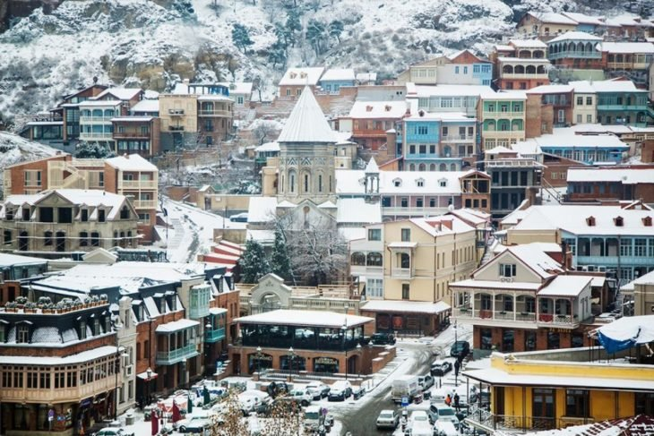 Un pueblo bonito nevado