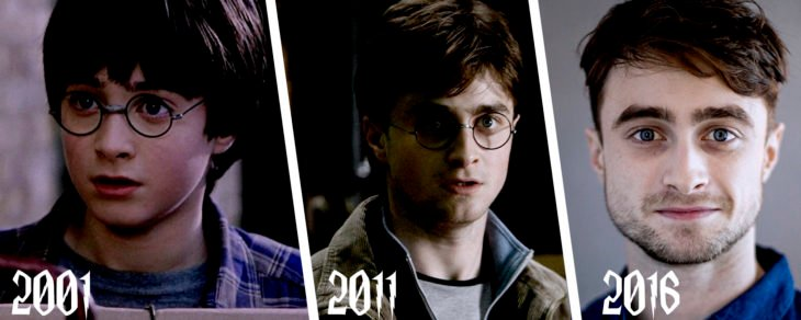 evolución de harry potter