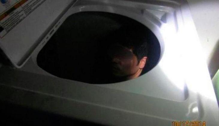 escondido en la lavadora para cruzar la frontera