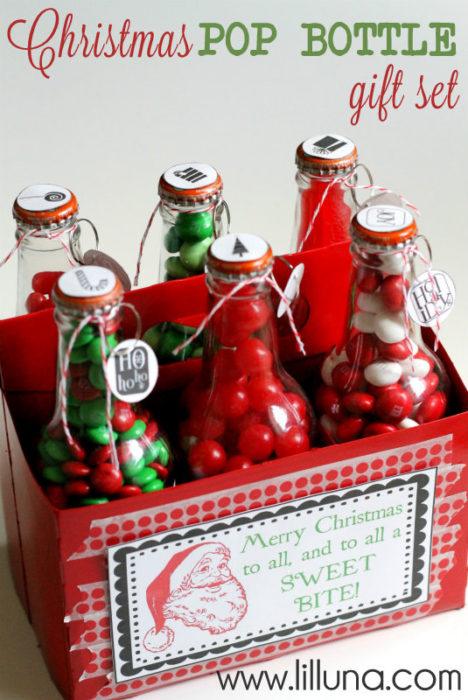 6 botellas de refresco rellenas de dulces