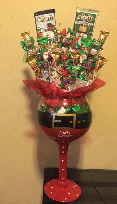 Copa rellena de dulces
