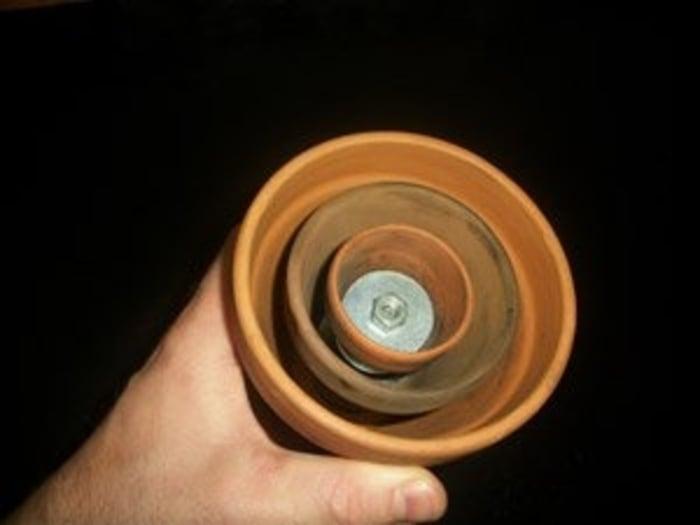 Interior montaje calentador de ceramica