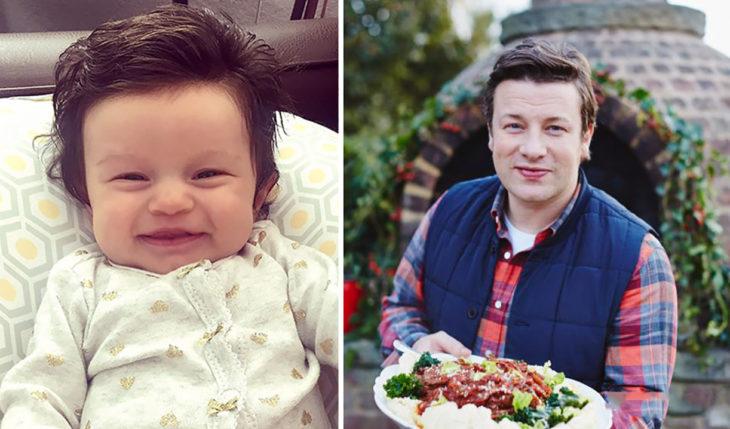bebé que se parece a jamie oliver