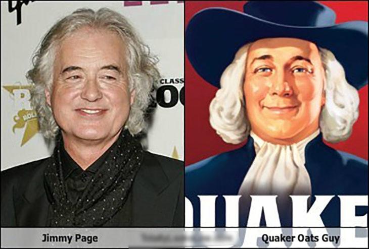 jimmy page y señor de quaker
