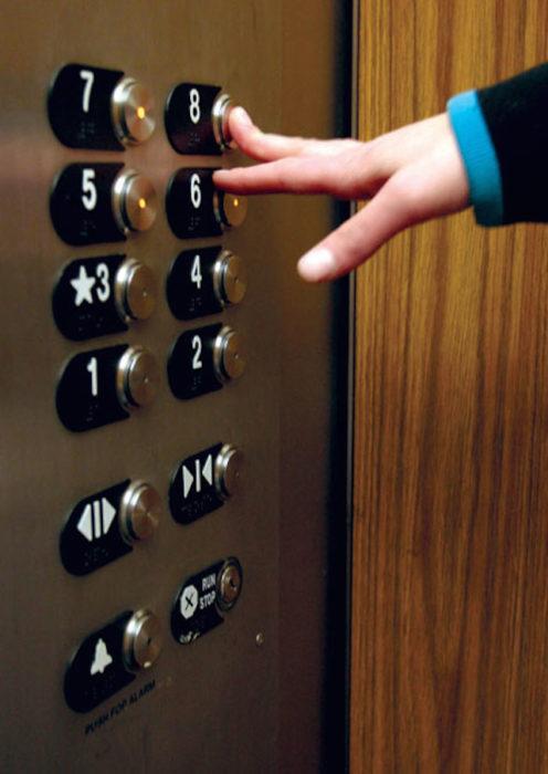 botones de elevador