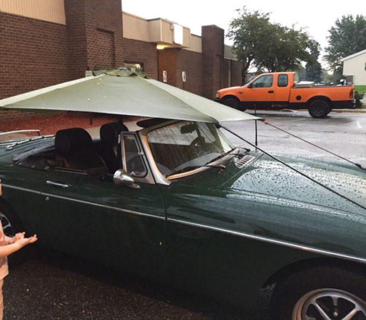 carro convertible con capote