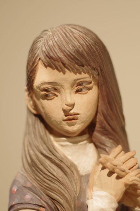 rostro de una mujer que parece 3D
