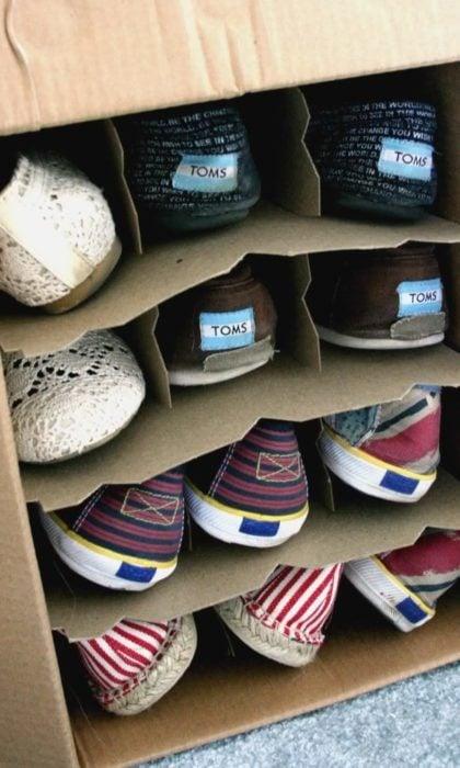 Organizar clóset - zapatos en cajas