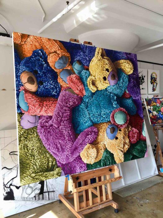 Pintura de osos de peluche