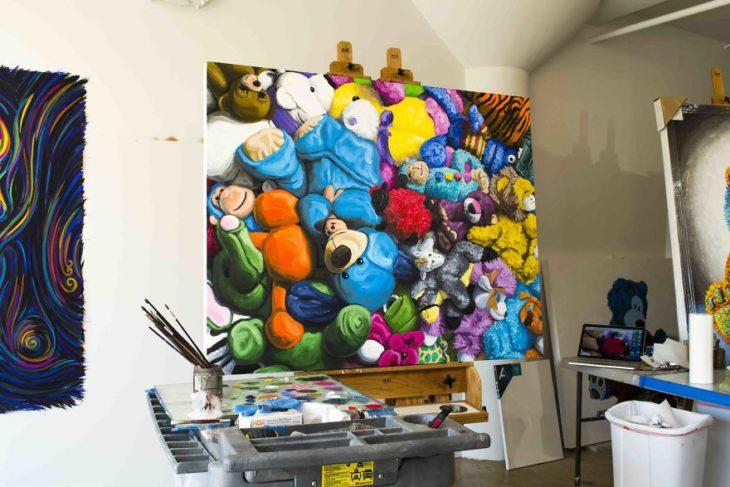 Cuadro de pintura de osos de peluche