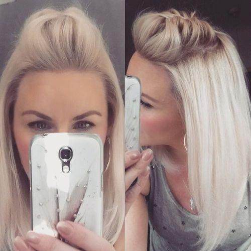 estilo pompadour para cabello largo