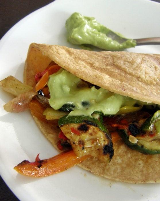 Recetas vegetales - tacos vegetarianos