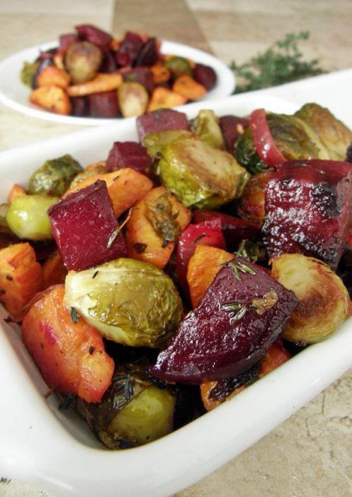 Recetas vegetales - vegetales rostizados