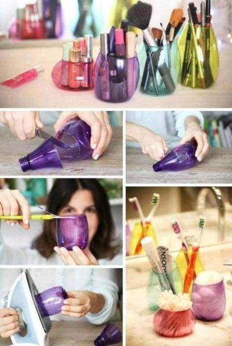 Botellas de plástico doble uso