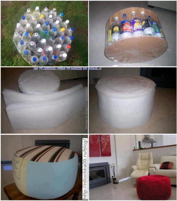 Sillones con botellas de plástico