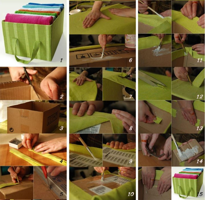 Cajas de caron tapizadas