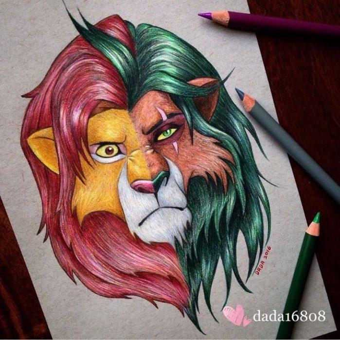 Rostros unidos - El Rey León