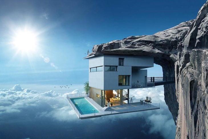 casa sobre las nubes