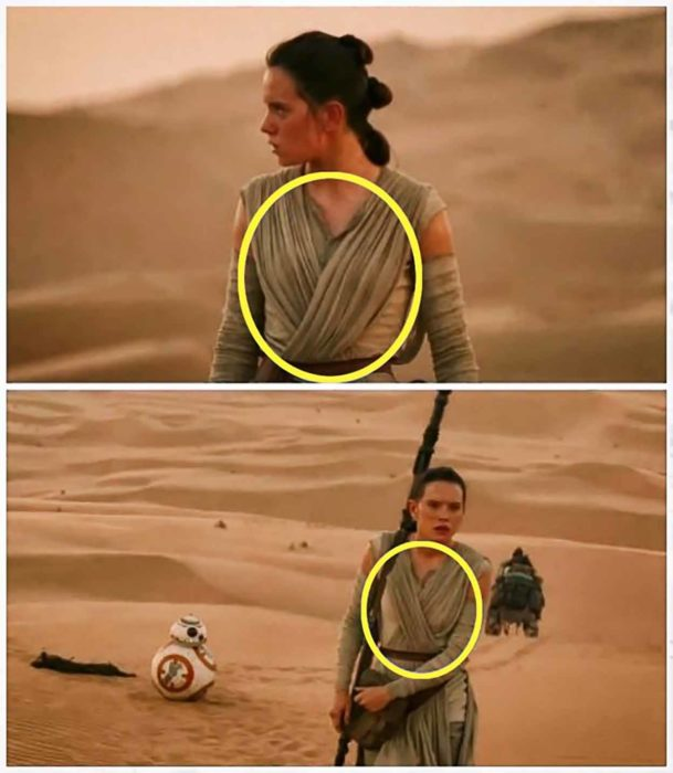 error de la película Star Wars The Force Awakens