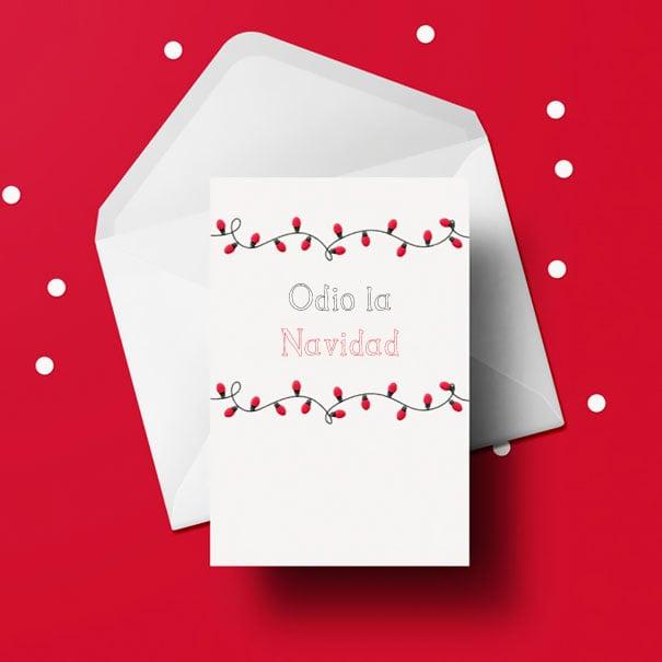 tarjeta odio la navidad