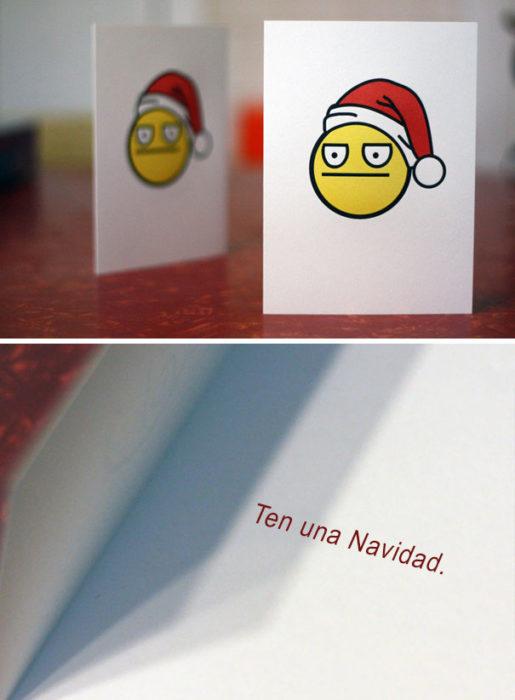 Tarjeta ten una navidad