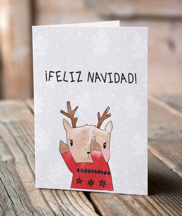 tarjeta feliz navidad reno grosero