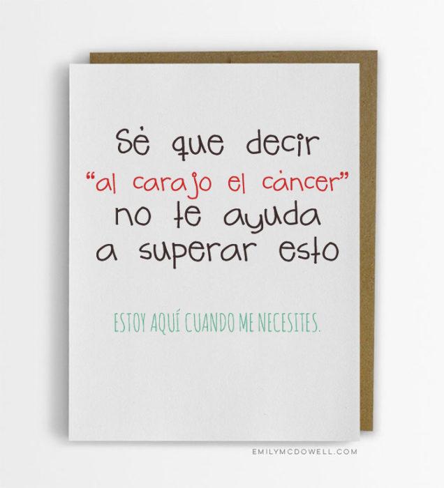Tarjetas cáncer - al carajo el cáncer