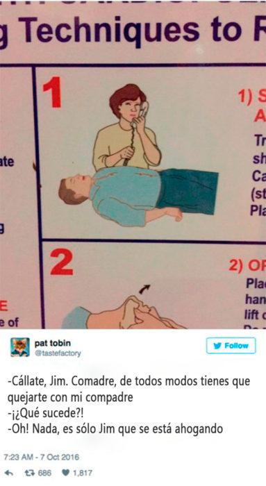 qué hacer cuando alguien se ahoga