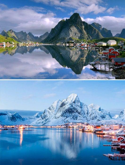 el antes y el después del invierno