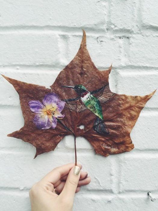 pintura de un colibrí