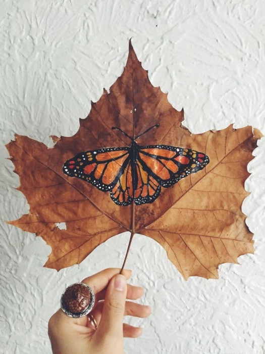 pintura de una mariposa