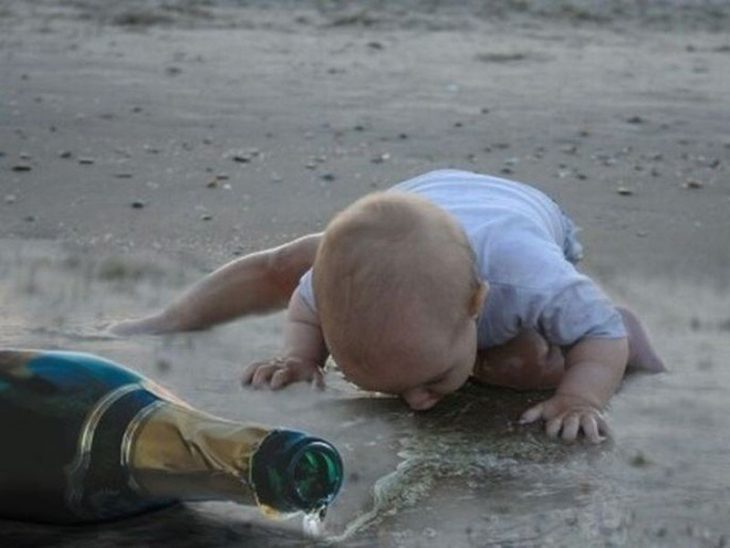 los bebes no saben cuando dejar de beber