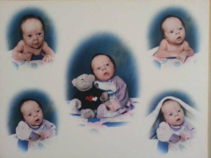 caras raras de bebes en las fotos