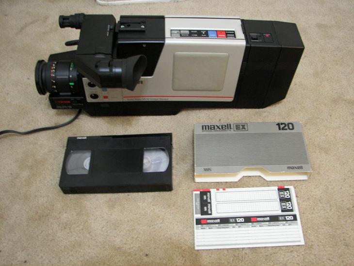 cámara de los 90 para gravar videos