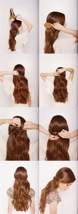 cabello con dos torcidos en la parte trasera