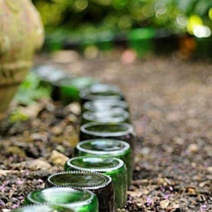 camino de botellas