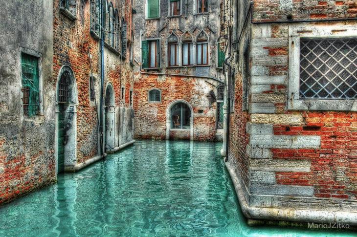 canal de Venecia abandonado