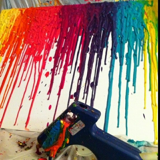 crayolas derretidas