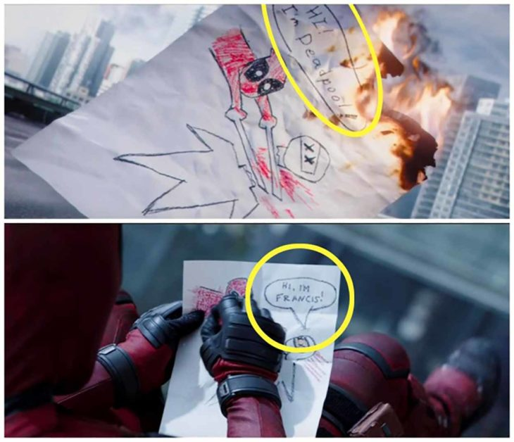 errores de la película deadpool