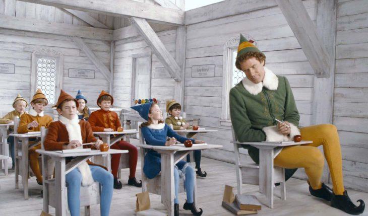 escena de escuela de la película de Elf