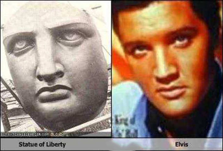 Elvis Presley y la Estatua de la Libertad