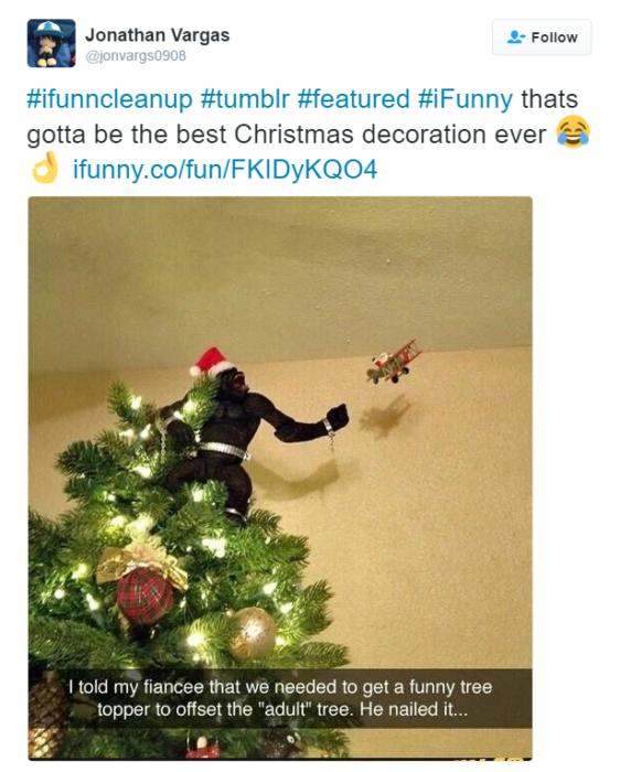 la estrella de navidad mas loca