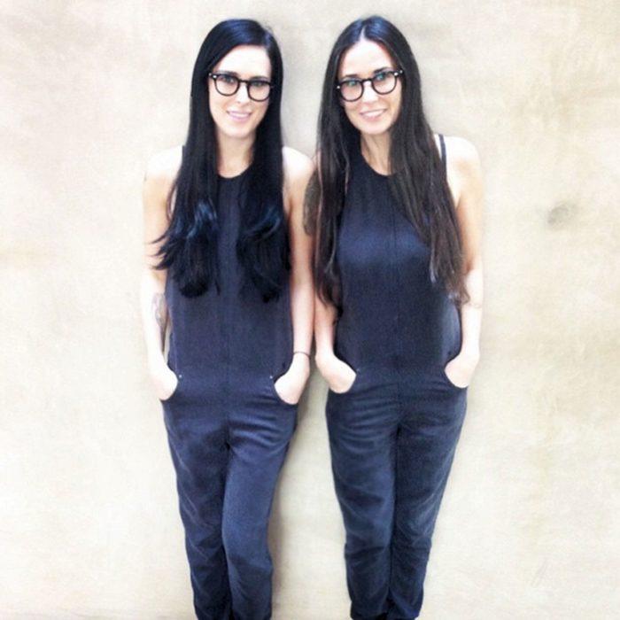 demi moore y su hija que parecen gemelas