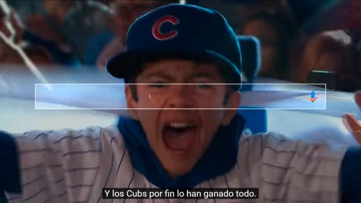 niño llorando de felicidad por el triunfo de los cubs